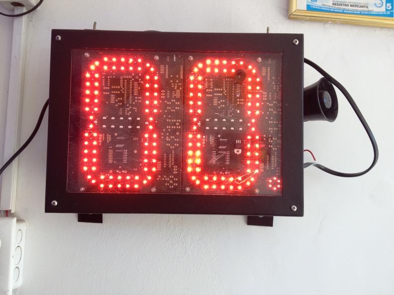 Cronometro LED Canchas Deportivas – Interperie, Conexion Inalambrica.