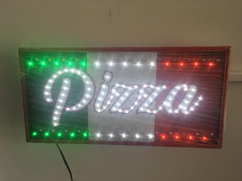 Cuadro LED – Pizza Blanco – Varios Efectos – Personalizado.