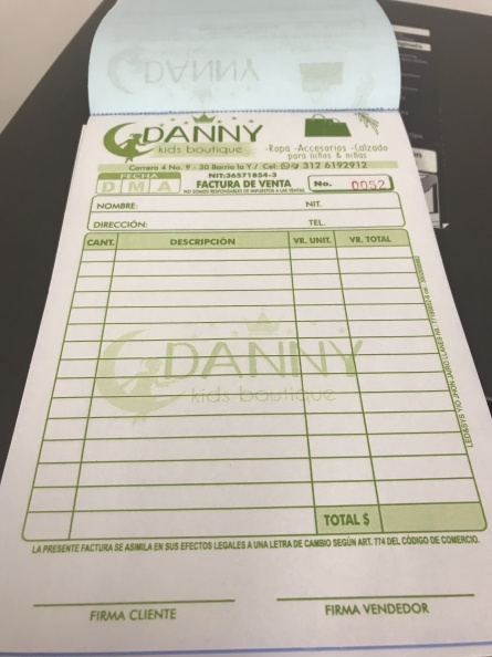 Factureros – Danny Kids