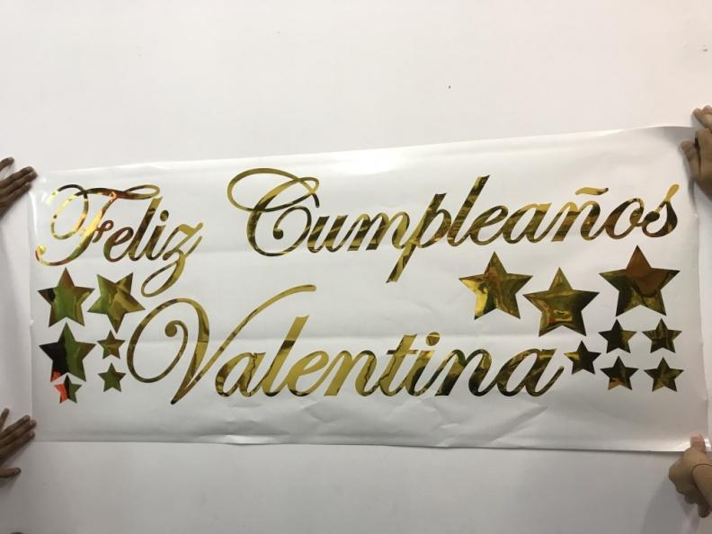 Feliz Cumpleaños – Vinilo Dorado